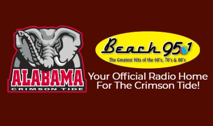 Alabama Football is On Beach 95.1 WBPC